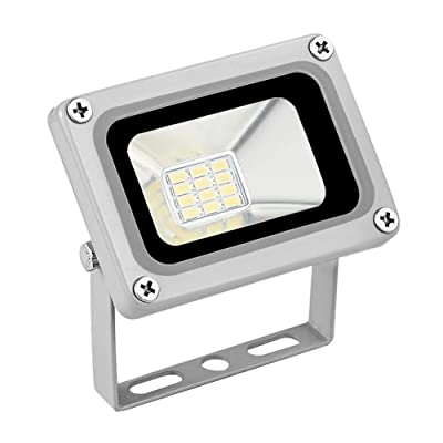 DealmerryUS 12V 10W Security LED Flood Light, IP65 Waterproof, Cold whiet 6000K-6500K, Dusk to Dawn Security Lamp Fixture for Garden, Yard, Playground, Basketball Court : Garden & Outdoor