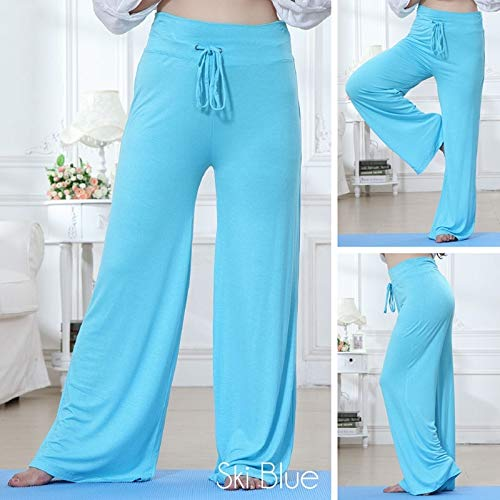 maledery Womens Fashion Plus Size Dance Wide Leg Casual Workout /& Yoga Pants 10 Color S-4XL Red,L