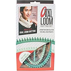 Leisure Arts - Ultimate Oval Loom Knitting Set | Pattern Book with 7 Easy to Follow Patterns | Oval Looms in 2 Sizes with Stitching Tool