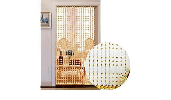 GDMING Cristal Cortinas De Hilos para Puertas Decoración Cortina De Cuentas Divisor De Habitaciones Balcón Purpurina Panel Cortina ,Personalizable (Color : Yellow, Size : 20strands-60X180CM): Amazon.es: Hogar