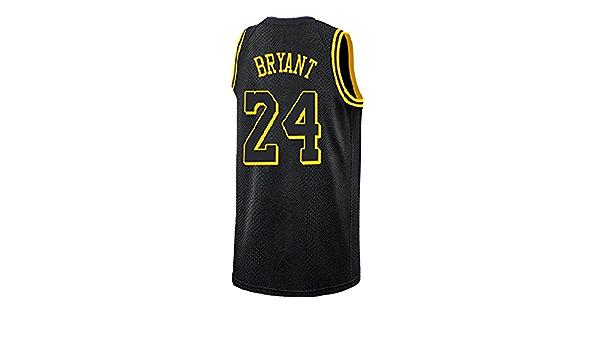 HOPLUM LO Men's Bryant Jersey Los Angeles 24 Kobe Basketball Black ...