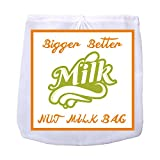 ": Nut Milk Bag (12""x12""), Large Reusable Anti-Mold Almond Milk Bag , Double-Layer Nylon Food-Grade Food Strainer for Nut Milk, Fruit Juices, Tea, Soy, Yogurt, Coffee Filter, Stew Straining"