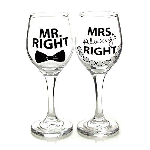Name Bride Groom Wine Glass