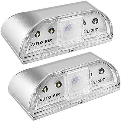 PIR Wireless Auto Infrared IR Sensor Motion Detector Keyhole 4 LED Light lamp BA