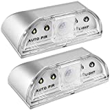 2 Pack Keyhole Light, SENHAI PIR Infrared IR Wireless Door Lock Lamp, Auto Sensor Motion Detector, 4 LED Bulbs