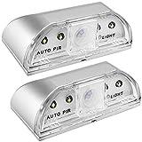 2 Pack Keyhole Light, SENHAI PIR Infrared IR Wireless Door Lock Lamp, Auto ...