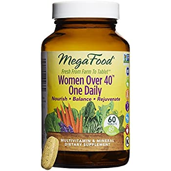 MegaFood - Women Over 40 One Daily, Promotes Immune Health & Well-being, 60 Tablets (FFP)