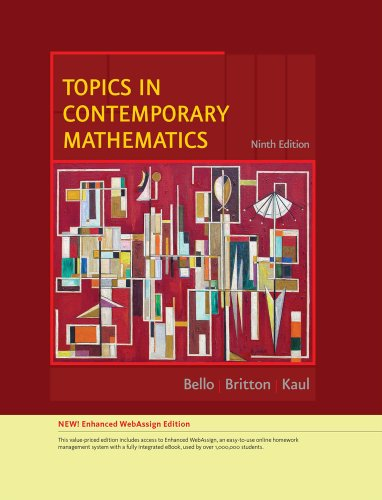 Download Topics in Contemporary Mathematics, Enhanced Edition (Available 2010 Titles Enhanced Web Assign) Pdf