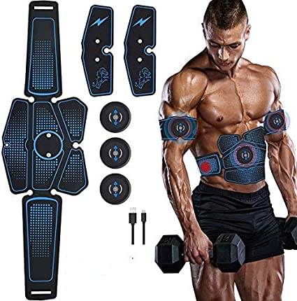 Lixada Electroestimulador Muscular Máquina de Abdominales Entrenamiento Muscular para Fitness Adelgazante Quema de Grasa