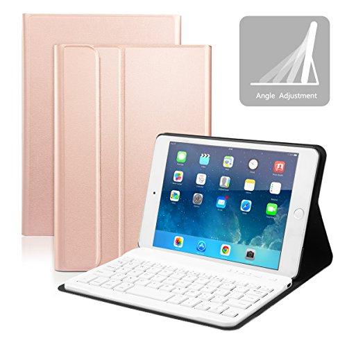 iPad Mini 4 Keyboard Case, CoastaCloud Built-in Removable Bluetooth Keyboard with Multi-Angle Stand Case Cover for iPad Mini 4 & iPad Mini 5 2019 - Gold