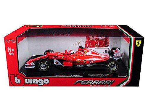 NEW 1:18 BBURAGO FERRARI RACING COLLECTION - 2017 Ferrari Formula 1 F1 SF70H #5 Sebastian Vettel Diecast Model Car By - New Ferrari F1