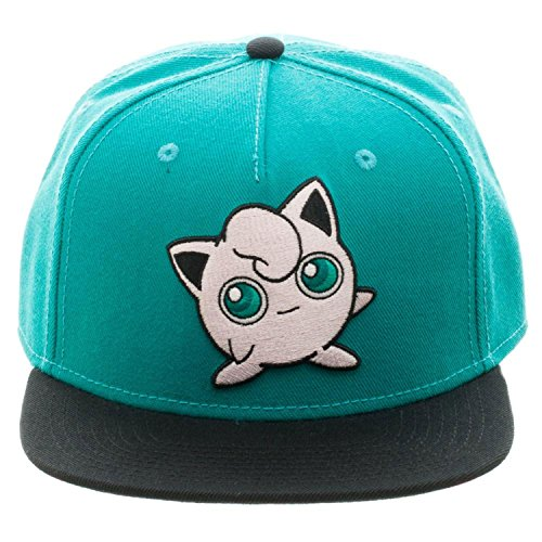 Jigglypuff Costume Amazon (BIOWORLD Pokemon Jigglypuff Embroidered Snapback Cap Hat, Turquoise)
