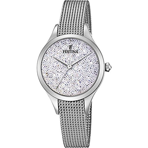 Women's Watch Festina - F20336/1 - Crystals from Swarovski - Milanese Band by Festina