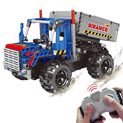 STEM Learning Kit | Truck Construction Toys with Remote Control, Cool Educational Engineering Building Set for Boys and…