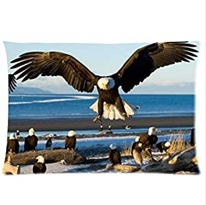 The Bald Eagles Bask In The Sun,The Bald Eagle Pillowcase,Twin Sides Pillowcase Pillow Cover 20x30 inches