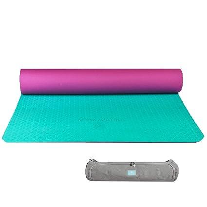 Esterilla de yoga plegable de doble cara de TPE, gruesa y ...