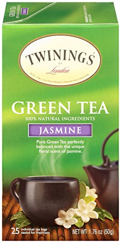 - Twinings of London Jasmine Green Tea Bags, 25 Count