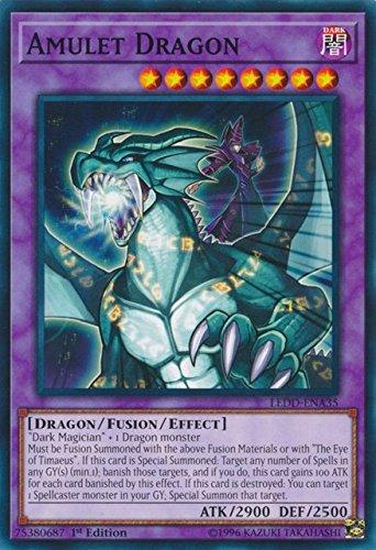 Yugioh 1st Ed Amulet Dragon LEDD-ENA35 Common 1st Edition Legendary Dragon Decks (Cards Edition Yu Oh Gi 1st)