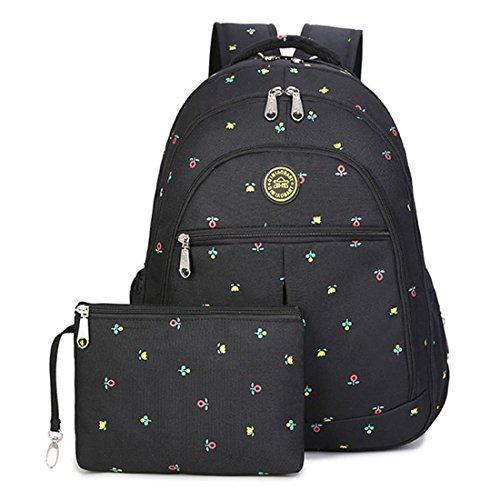 Abonnyc mochila el cambiar pañales Bebé Bolsa de Pañales multifuncional mochila de viaje bolso de mano Gran Capacidad Bolsa de aislamiento azul Blue Dot Black Flower