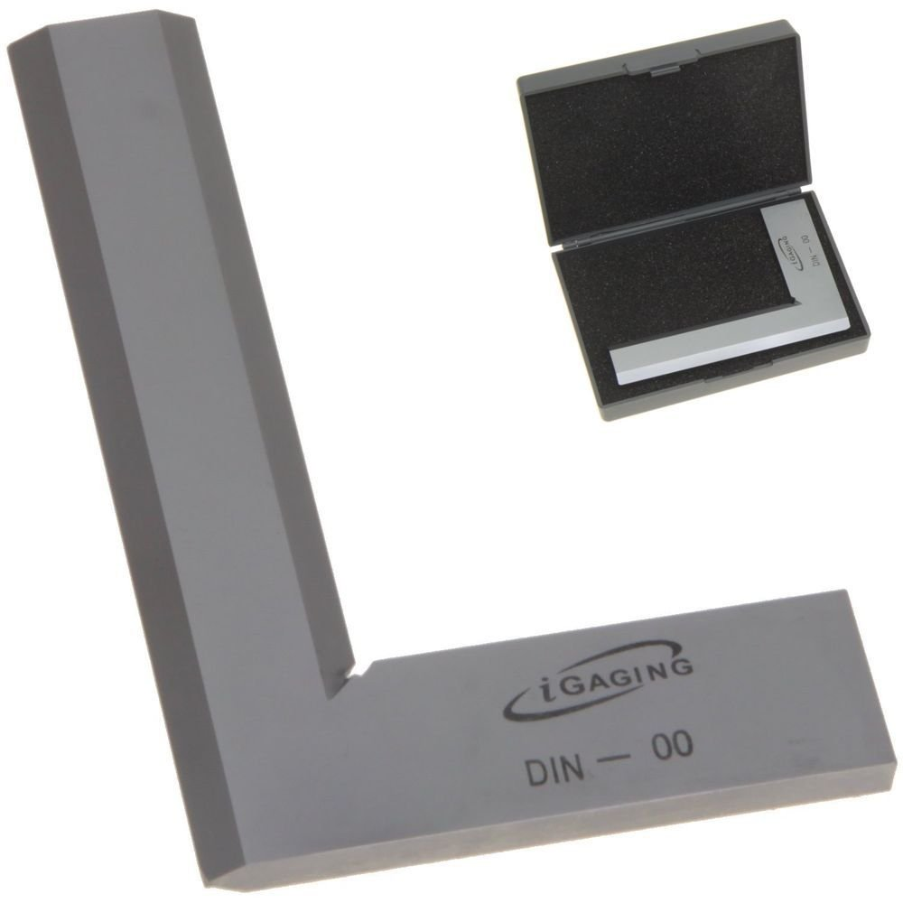 iGaging 6'' Machinist Bevel Square 90° Right Angle DIN-00 High Precision Design Tool