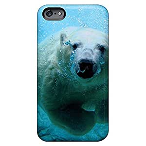 forever mobile phone shells Protective Cases Ultra iphone 4s - polar bear swimming underwater