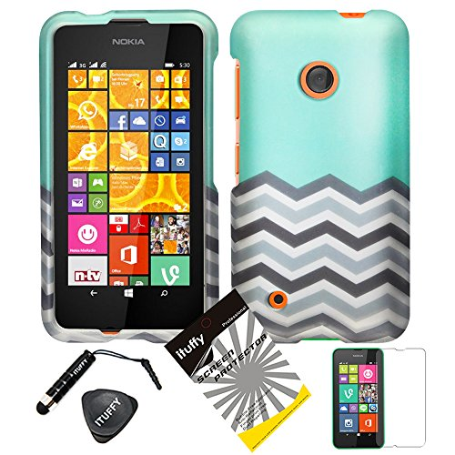 4 items Combo: ITUFFY (TM) LCD Screen Protector Film + Stylus Pen + Case Opener + Design Rubberized Snap on Hard Shell Cover Faceplate Skin Phone Case for (T-Mobile / -