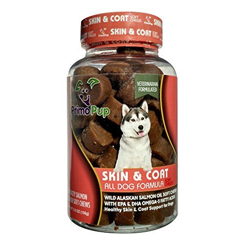 Primo pup skin coat omega 3 supplements fish oil for for Fish oil for dogs skin