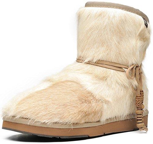 Aumu Women's Classic Mini Sheepskin Winter Boot Fur Boot White Size 9
