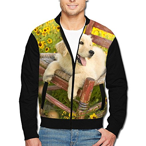 SCOOLY Dog Sit Chair Flower Sea Youth Long Sleeve Full Zip Jacket X-Large (Sit Face Chubby)