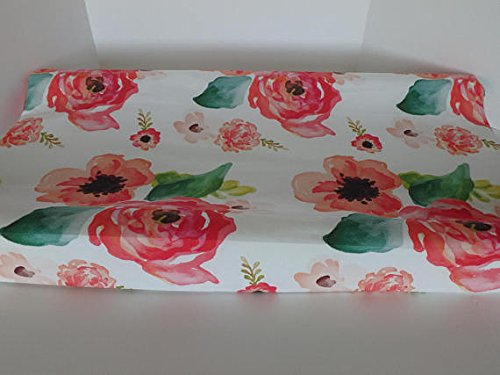 Baby Girl Crib Bedding Changing Pad Cover (Coral water) Sahaler