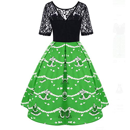 Landfox Cocktail Dress, classicWomen Merry Christmas Cowl Neck Snowflake Print Tops Sweatshirt Pullover -