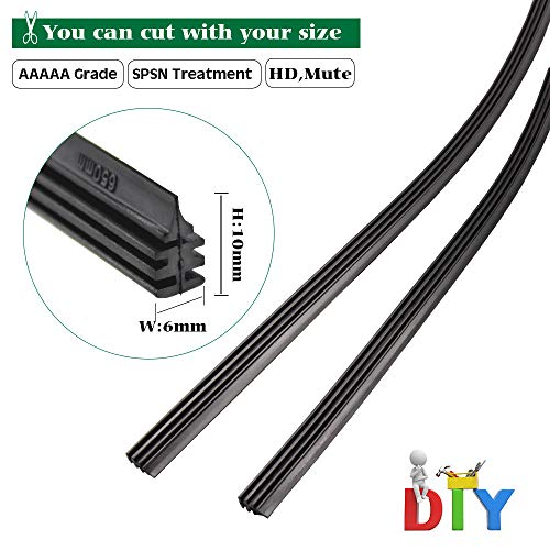(BEMOST Car Frameless Windshield Wiper Blade Refills Rubber strips Pack of 2 (30 Inches))