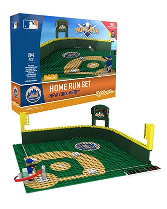 Mlb Home Runs - Oyo Sportstoys MLB New York Mets Home Run Derby Set with Minifigure, Small, White