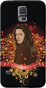 DailyObjects Bella Case For Samsung Galaxy S5 Back Cover Black