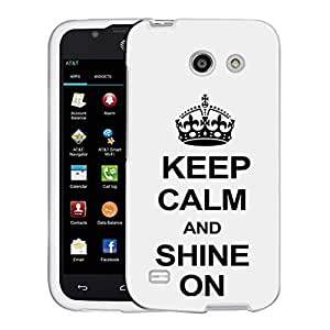 AT&T Fusion 3 Case, Snap On Cover by Trek KEEP CALM and Shine On on White Case