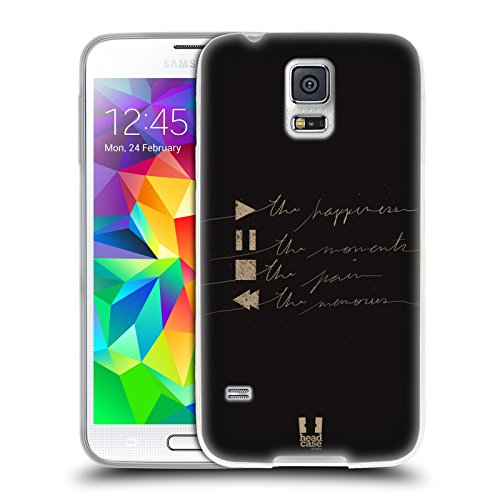 Head Case Designs Player Buttons Power Of Music Soft Gel Case for Samsung Galaxy S5 / S5 Neo