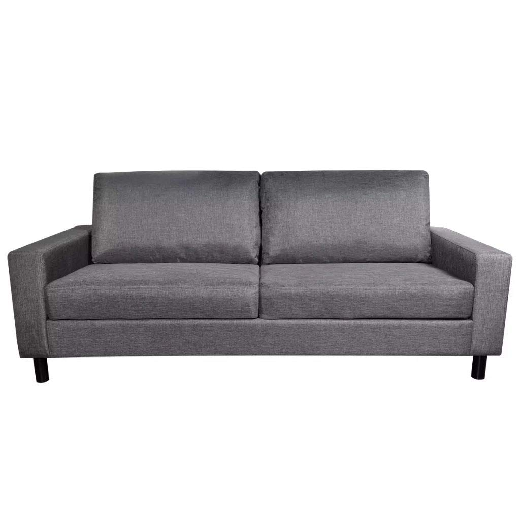 Sofa 3-Seater Fabric Dark Gray Home Office Furniture 79'' x 34'' x 32'' (W x D x H) by Drewcaroline (Image #5)