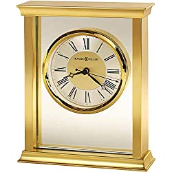 Howard Miller Monticello Table Clock 645-754 - Modern & Square with Quartz Movement