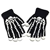LED Skull Bone Skeleton Motocycle Cycling Riding Goth Racing Full Finger Gloves for Halloween Costume Props