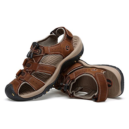 Brown Color Criss suola lacci Size EU da con Brown casual uomo Sandali vera Juan uomo da antiscivolo Cross shoes 44 pelle da in spiaggia Scarpe qpxOwSnH