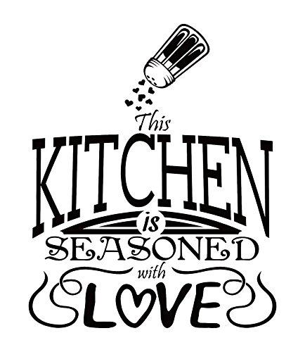 Amazoncom Kitchen Decals For Wall Home Kitchen Design Ideas - Custom vinyl wall decals word art ideas