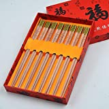 Kitchen Supplies Portable Mahogany Chopsticks, High-end Cutlery Set, Non-Slip High Temperature Resistance, Tasteless/Environmentally Friendly, About 25cm Long Tool Accessories