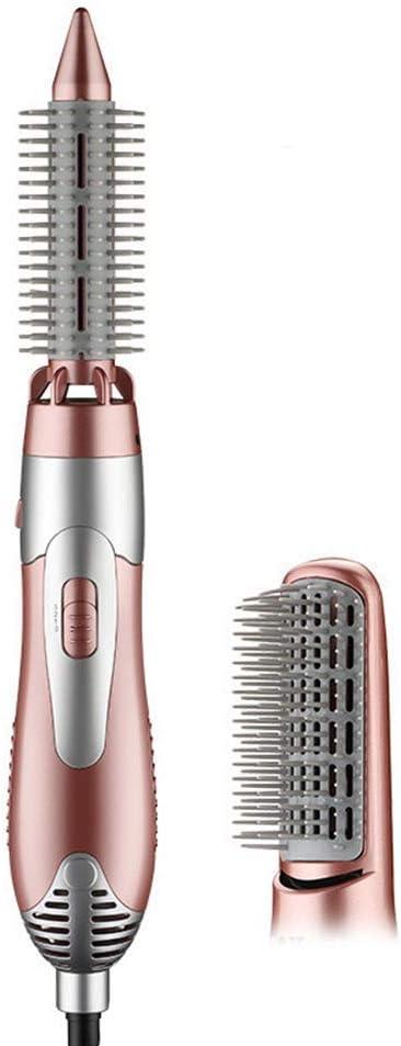 Secador de Pelo 3 en 1 Ion Negativo Anti-Scald Curling brocha de Aire y Cepillo de enderezador,Pink