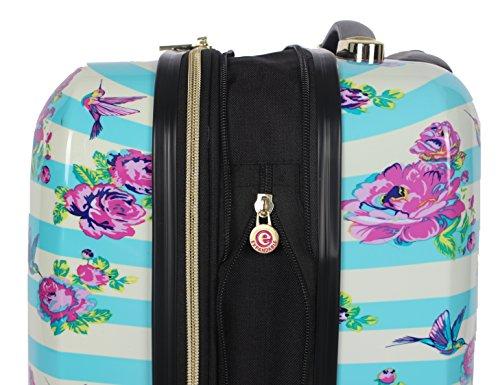 "BETSEY JOHNSON S. F. Hummingbird 30"" Expandable Hardside Checked Spinner Luggage"