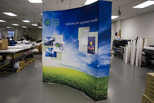 Pop Up Display Curved 10-Feet Wall,Pop-Up Exhibit Banner,Portable Backdrop Display Booth with Carrying Bag