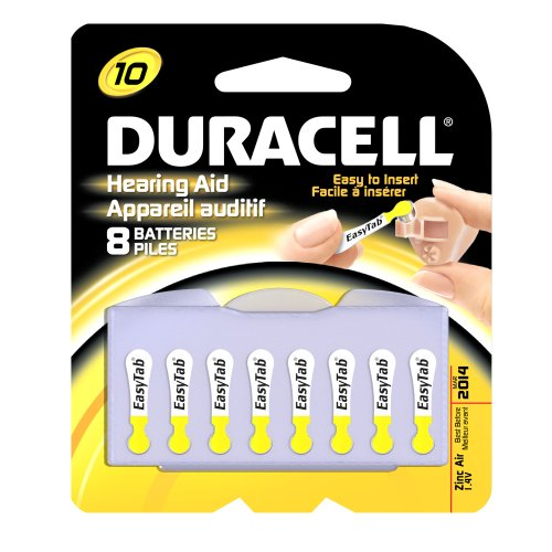 Duracell 1.4 Volt Zinc Air Hearing Aid Batteries Size 10 DA10B8 (8 (1.4v Zinc Air Battery)