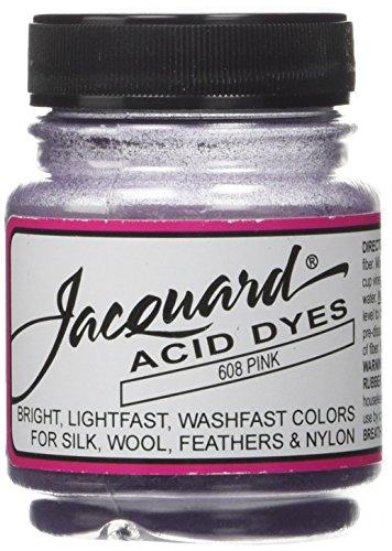 Jacquard Acid Dyes .5oz, Pink - Pink Fabric Dye