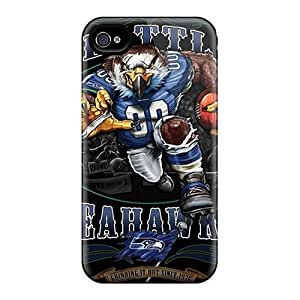 Anti-scratch And Shatterproof Seattle Seahawks Phone Cases For iphone 4 4s / High Quality Tpu Cases
