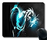 FineMousePad Custom Gaming Mouse Pad with Blue Dragon Non-Slip Neoprene Rubber Standard Size 9 Inch(220mm) X 7 Inch(180mm) X 1/8 Inch(3mm) Mouse Pad