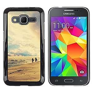 """For Samsung Galaxy Core Prime / SM-G360 , S-type Naturaleza Playa Retro"""" - Arte & diseño plástico duro Fundas Cover Cubre Hard Case Cover"""